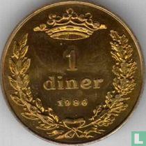 """Andorra 1 diner 1986 """"Joan D.M. Bisbe D'Urgell I"""""""