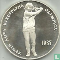 "Andorra 20 Diner 1987 ""Tennis new Olympic discipline"""