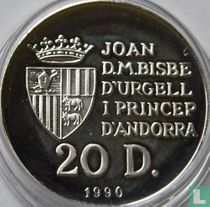 "Andorra 20 diners 1990 (PROOF) ""1992 Summer Olympics in Barcelona"""