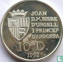 "Andorra 10 diners 1992 (PROOF) ""Red squirrel"""