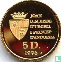 """Andorra 5 diners 1996 (PROOF) """"Chamois"""""""