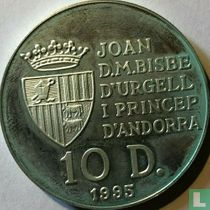 "Andorra 10 diners 1995 (PROOF) ""50th anniversary of the FAO"""