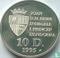 "Andorra 10 diners 1995 (PROOF) ""Wolf"""