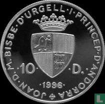 "Andorra 10 diners 1996 (PROOF) ""European otter"""