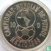 "Andorra 10 diners 1986 ""Football World Cup in Mexico"""