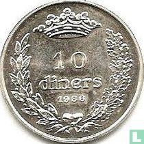 "Andorra 10 diners 1986 ""Joan D.M. Bisbe D'Urgell I"""