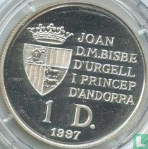 "Andorra 1 diner 1997 (PROOF) ""40th anniversary Treaty of Rome"""