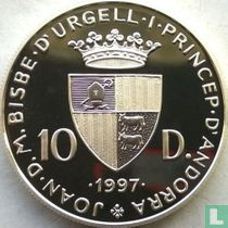 "Andorra 10 diners 1997 (PROOF) ""1998 Football World Cup in France"""