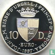"Andorra 10 diners 1997 (PROOF) ""Prince's palace"""