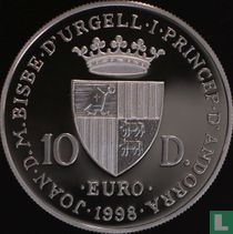 "Andorra 10 diners 1998 (PROOF) ""50th anniversary Universal Declaration of Human Rights"""