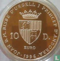"Andorra 10 diners 1996 (PROOF) ""25th anniversary Accession of Joan Martí i Alanis"""