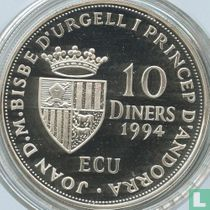 "Andorra 10 diners 1994 (PROOF) ""Admission to the United Nations in 1993"""