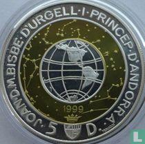 "Andorra 5 diners 1999 (PROOF) ""Millennium"""