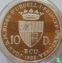 """Andorra 10 diners 1998 (PROOF) """"Claudio Monteverdi"""""""