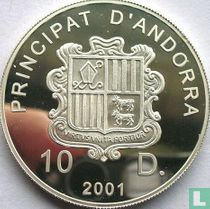 "Andorra 10 diners 2001 (PROOF) ""Europa"""