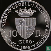 "Andorra 10 diners 1999 (PROOF) ""50th anniversary of the European Council"""