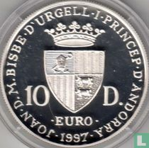 "Andorra 10 diners 1997 (PROOF) ""40th anniversary Treaty of Rome"""
