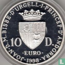 "Andorra 10 diners 1998 (PROOF) ""Europa"""