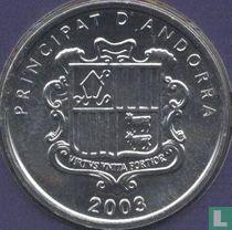 """Andorra 1 cèntim 2003 """"St. Miquel d'Engolasters church"""""""