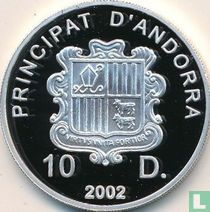 "Andorra 10 diners 2002 (PROOF) ""Winter Olympics in Salt Lake City"""