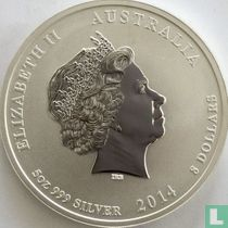 "Australië 8 dollars 2014 (kleurloos) ""Year of the Horse"""