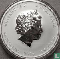 "Australië 2 dollars 2014 (kleurloos) ""Year of the Horse"""