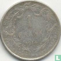 België 1 franc 1914 (NLD - medailleslag)