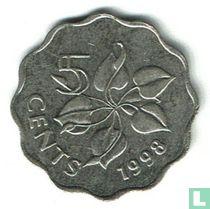 Swaziland 5 cents 1998
