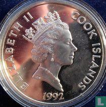 """Cook Islands 50 dollars 1992 (PROOF) """"500 years of America - Juan Ponce de León"""""""