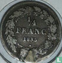 België ¼ franc 1835 (zonder BRAEMT F.)