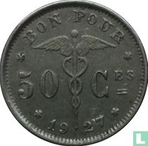 België 50 centimes 1927