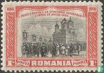 Bij de inwijding van de kathedraal van Curtea de Arges (1896)
