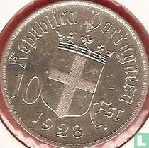 "Portugal 10 escudos 1928 ""Battle of Ourique in 1139"""