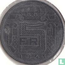 België 5 francs 1943 (muntslag)
