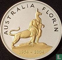 """Australië 1 dollar 2004 (PROOF) """"50th anniversary First royal visit of Queen Elizabeth II"""""""