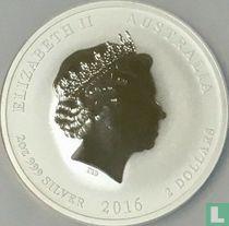 "Australië 2 dollars 2016 (kleurloos) ""Year of the Monkey"""