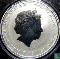 "Australië 50 cents 2015 (kleurloos) ""Year of the Goat"""