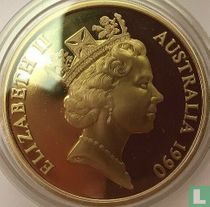 """Australië 5 dollars 1990 (PROOF) """"75 years Australian and New Zealand Army Corps"""""""