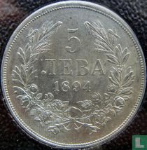 Bulgarije 5 leva 1894