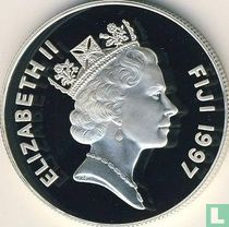 "Fiji 10 dollars 1997 (PROOF) ""50th Wedding Anniversary of Elizabeth and Philip"""