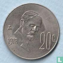Mexico 20 centavos 1978
