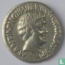 Romeinse Republiek, Denarius 41 BC M.Antonius & Octavius