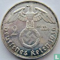 Duitse Rijk 2 reichsmark 1936 (D)