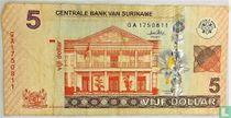 Suriname 5 Dollar 2010
