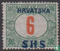 Portzegel, met opdruk