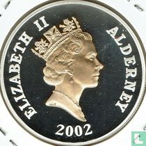 "Alderney 5 pounds 2002 (PROOF) ""50th anniversary Accession of Queen Elizabeth II"""