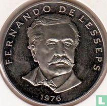 """Panama 50 centesimos 1976 (FM) """"Fernando de Lesseps"""""""