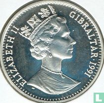 Gibraltar 35 ecus / 25 pounds 1991 (PROOF)