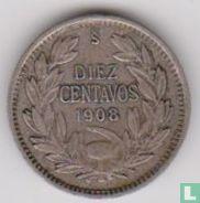 Chili 10 centavos 1908