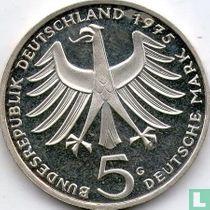 """Duitsland 5 mark 1975 (PROOF) """"100th anniversary Birth of Albert Schweitzer"""""""